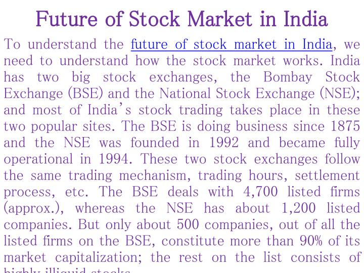 Future of stock market in india