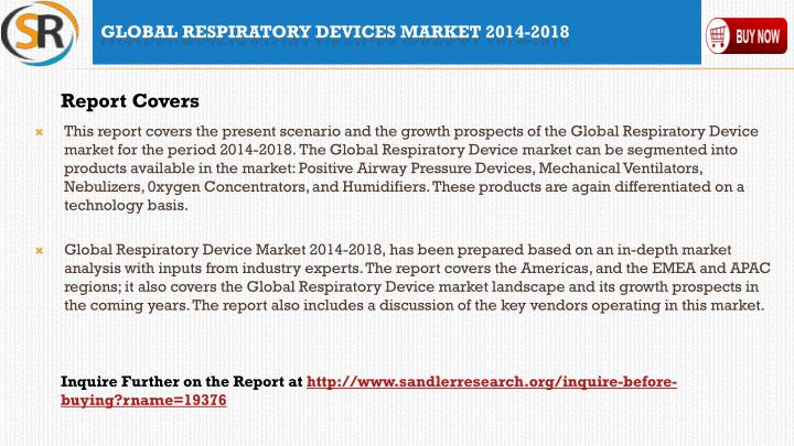 Global respiratory devices market 2014 20182