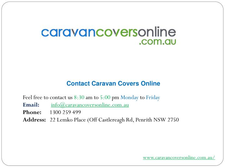 Contact Caravan Covers Online