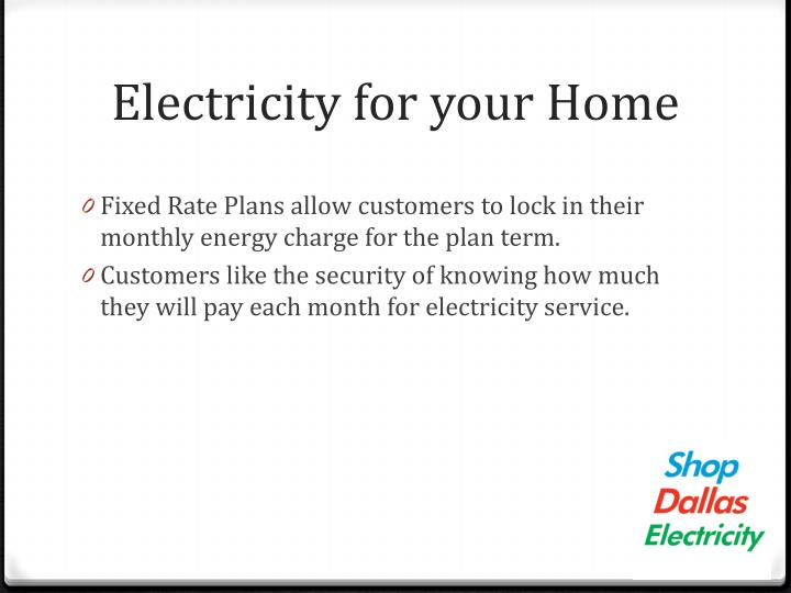 Electricity for your Home
