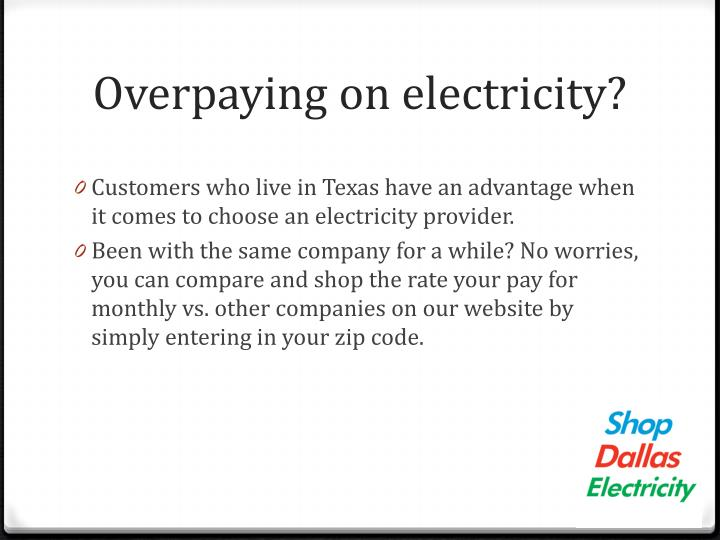 Overpaying on electricity