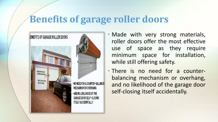 Benefits of garage roller doors