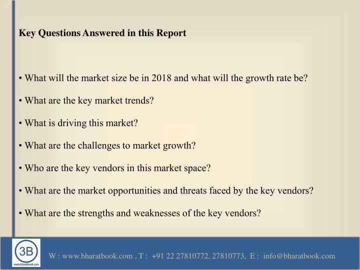 Key Questions Answered in this Report