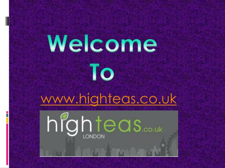 Www highteas co uk