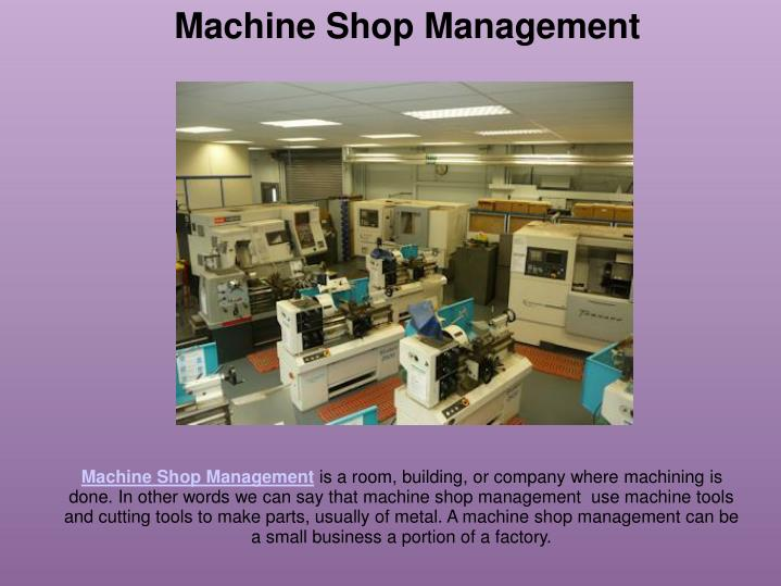 Machine Shop Management