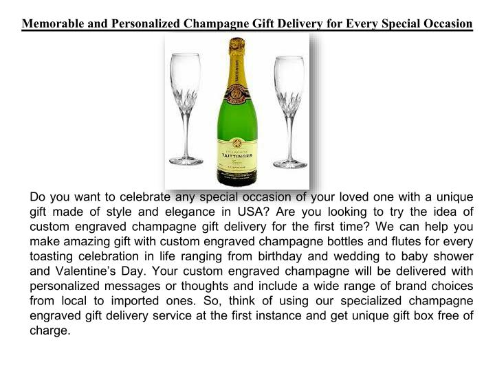 Memorable and Personalized Champagne Gift Delivery for Every Special Occasion