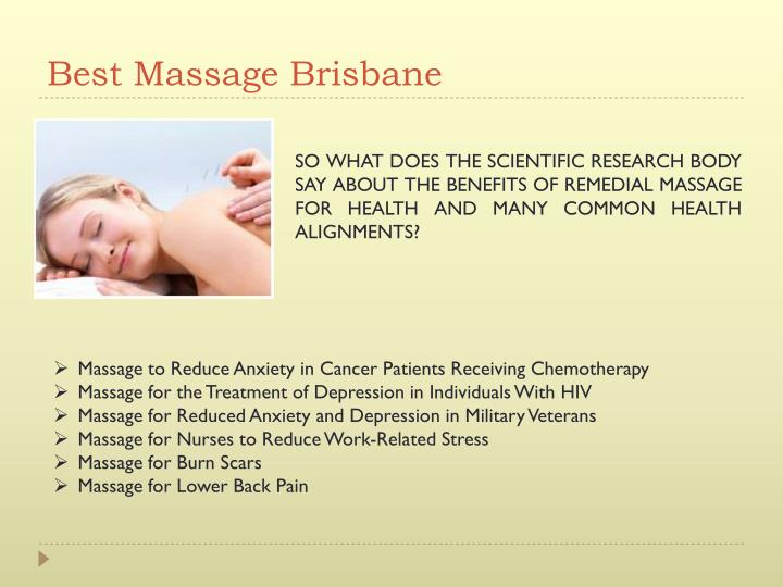 Best Massage Brisbane