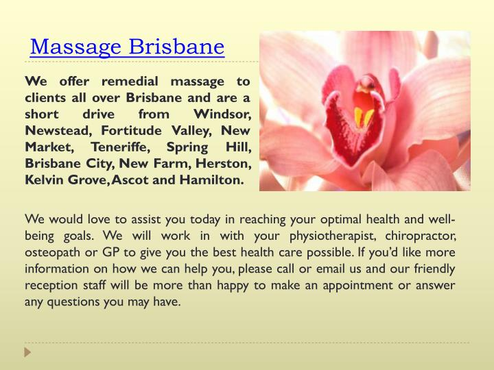 Massage Brisbane