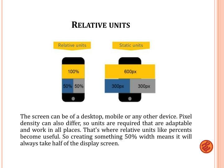 Relative units