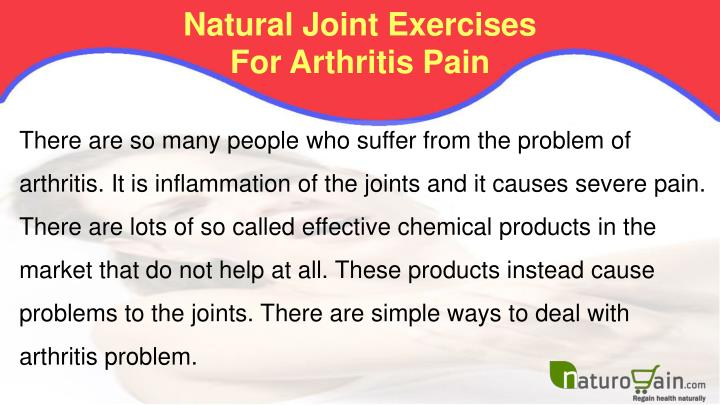 Natural joint exercises for arthritis pain