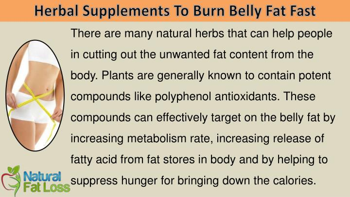 Herbal Supplements To Burn Belly Fat Fast