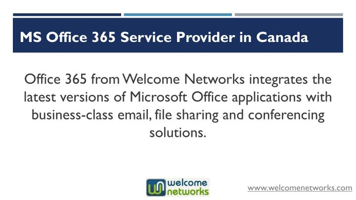 MS Office 365 Service Provider in Canada