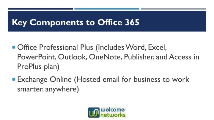 Key Components to Office 365