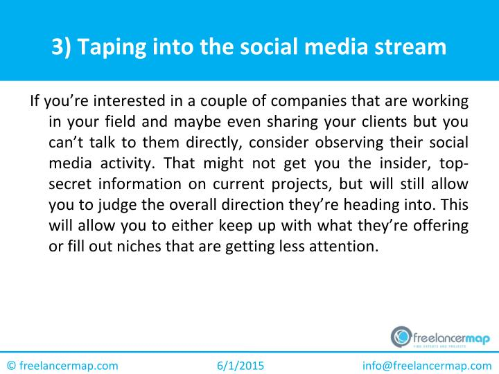 3) Taping into the social media stream