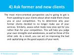 4 ask former and new clients