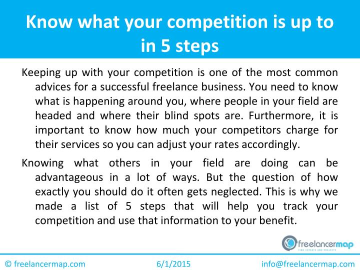 Know what your competition is up to in 5
