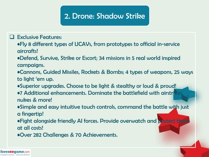 2. Drone: Shadow Strike
