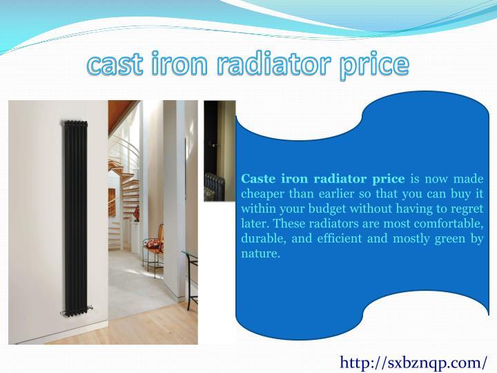 cast iron radiator price