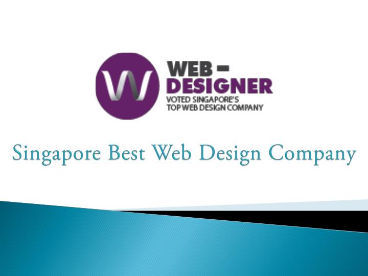 Singapore best web design company