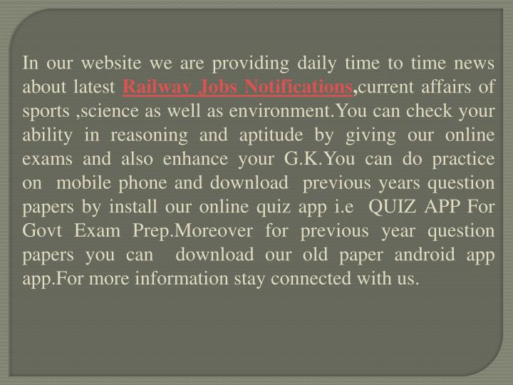 In our website we are providing daily time to time news about latest