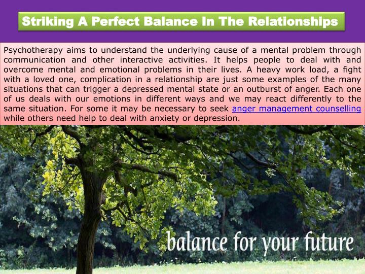 Striking A Perfect Balance In The Relationships