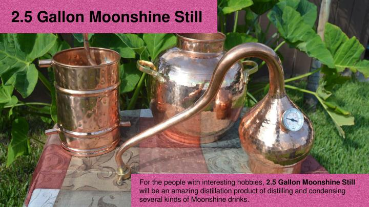 2.5 Gallon Moonshine Still