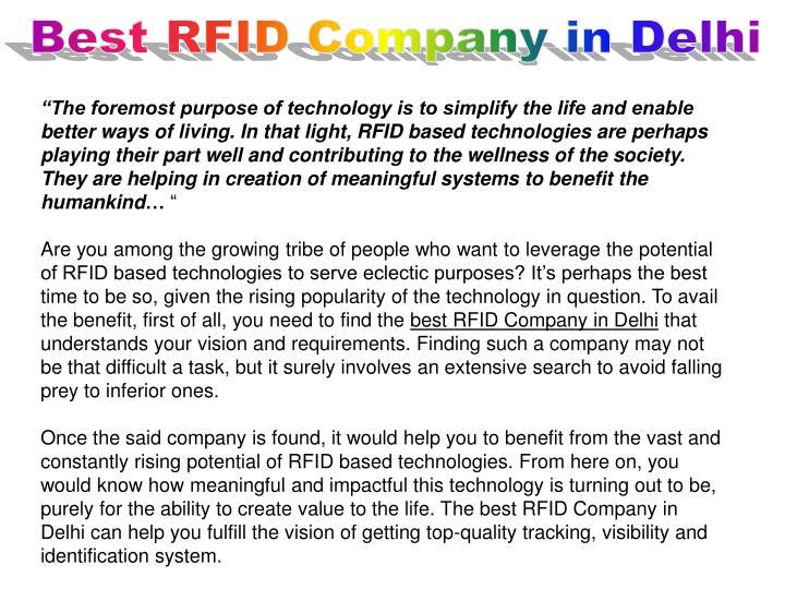 Best RFID Company in Delhi