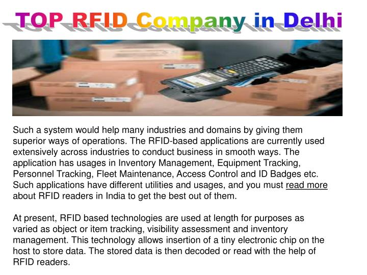 TOP RFID Company in Delhi