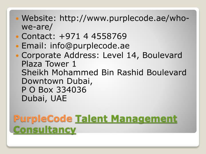 Website: http://www.purplecode.ae/who-we-are/