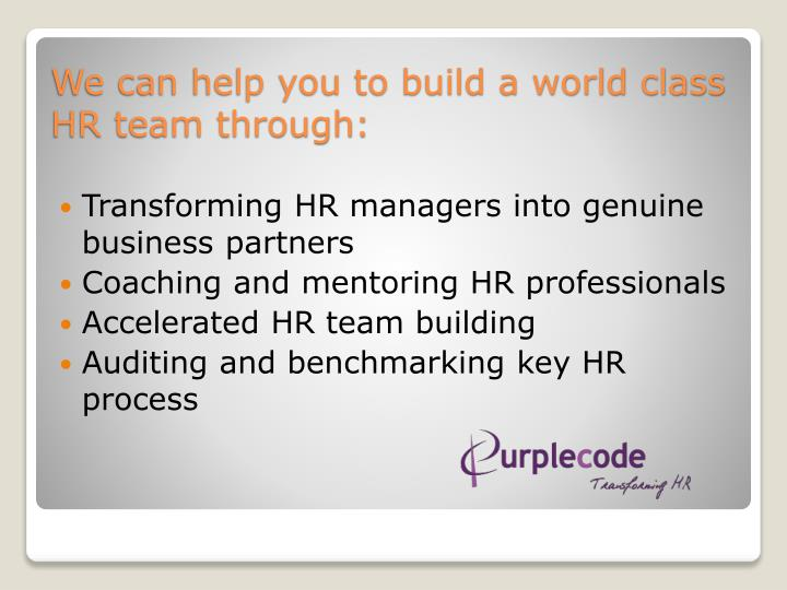 Transforming HR managers into genuine business partners