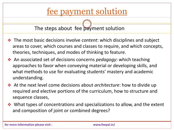 Fee payment solution