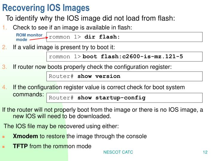 Recovering IOS Images
