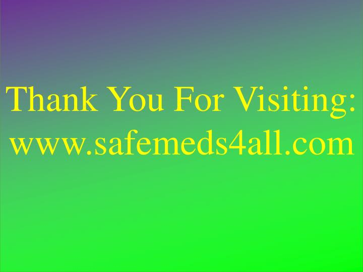 Thank You For Visiting: