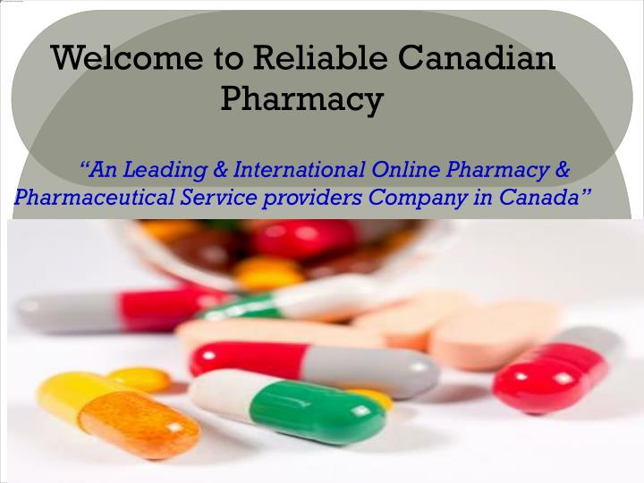 Welcome to Reliable Canadian Pharmacy