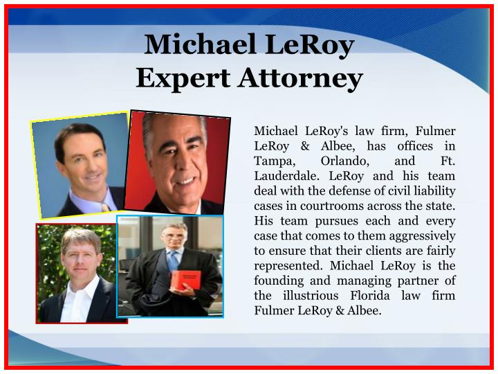 Michael leroy expert attorney