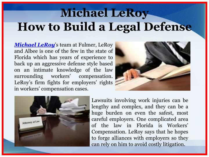 Michael leroy how to build a legal defense