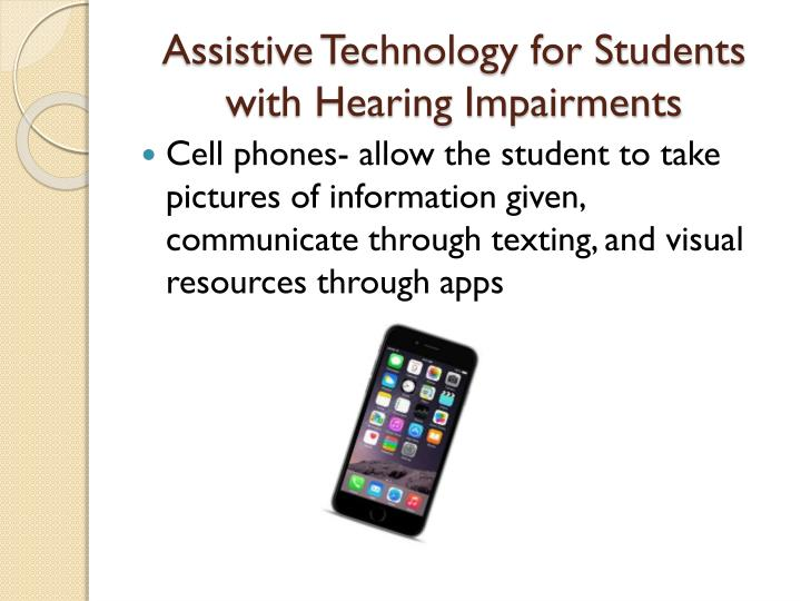 Assistive Technology for Students with Hearing Impairments