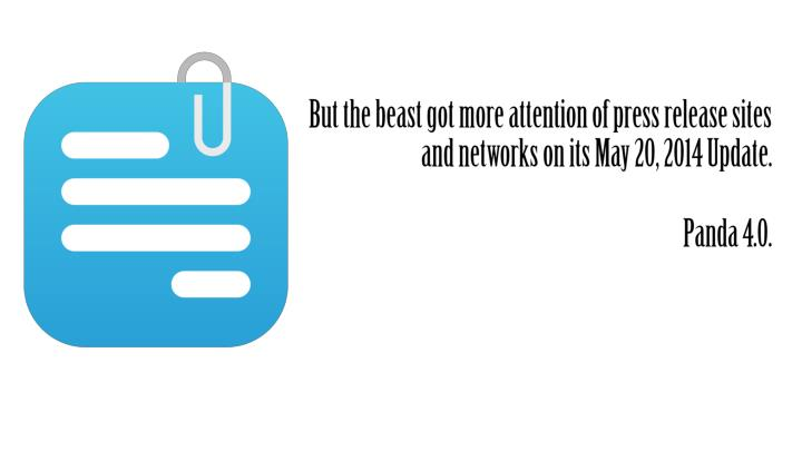 But the beast got more attention of press release sites and networks on its May 20, 2014