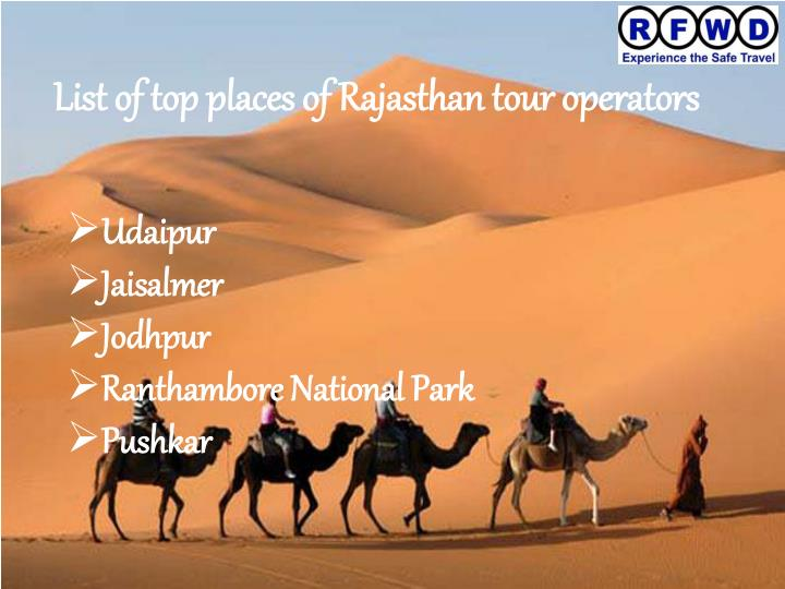 List of top places of Rajasthan tour operators