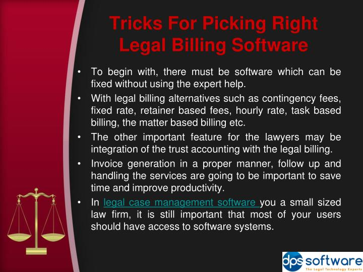 Tricks For Picking Right Legal Billing Software