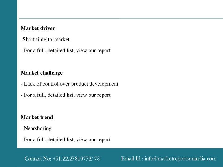 Market driver