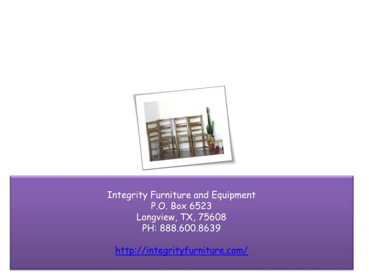 Integrity Furniture and Equipment