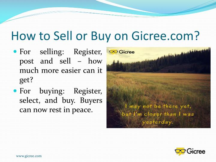 How to Sell or Buy on Gicree.com?
