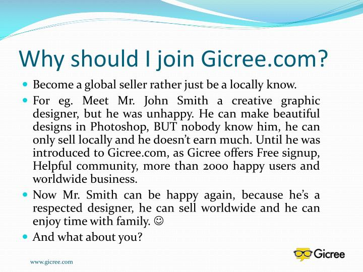 Why should I join Gicree.com?