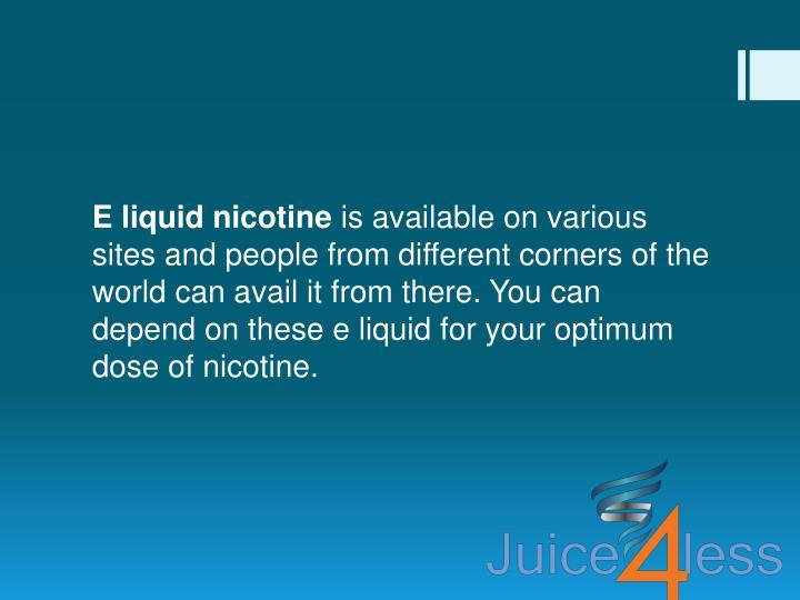 E liquid nicotine