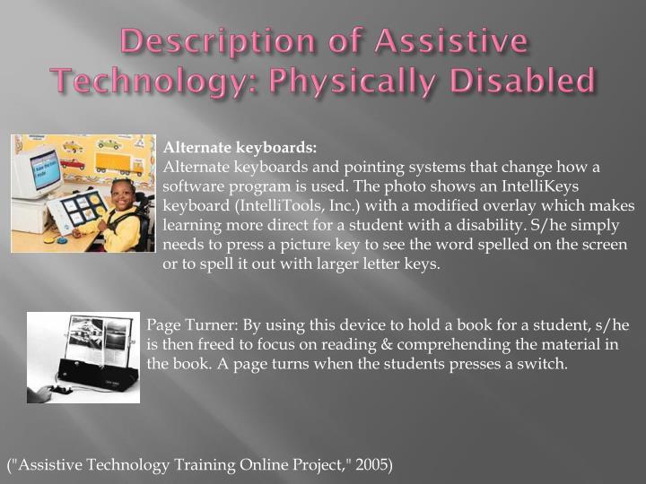 Description of Assistive Technology: