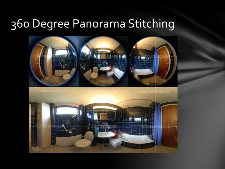 360 Degree Panorama Stitching
