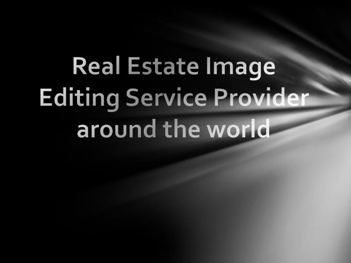 Real estate image editing service provider around the world