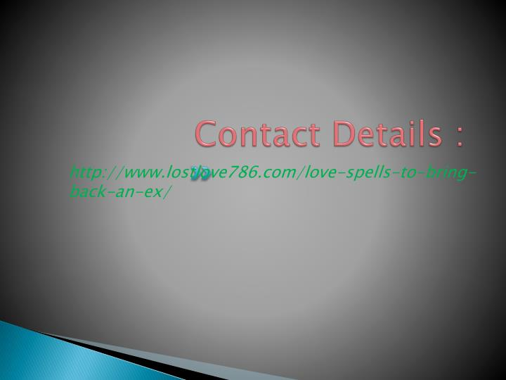 Contact Details :