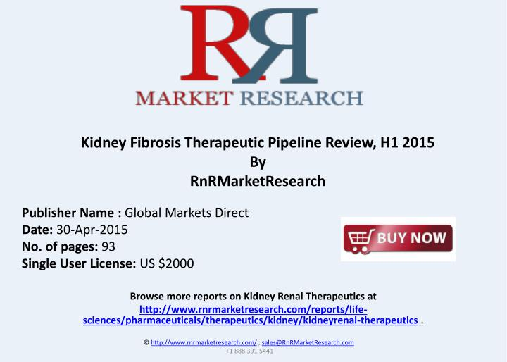 Kidney Fibrosis Therapeutic Pipeline Review, H1